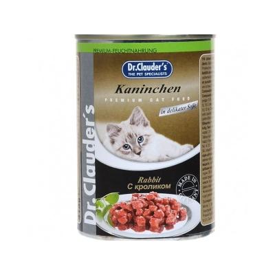 Dr. Clauder`s консервы для кошек (кролик)