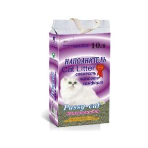 Наполнитель комкующийся PUSSY CAT (10 л)