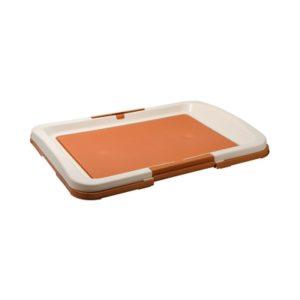 Туалет для собак большой под пеленку (коричневый)