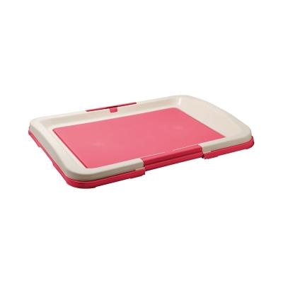 Туалет для собак малый под пеленку (розовый)