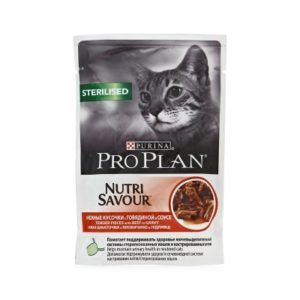Purina Pro Plan Sterilised Nutri Savour с говядиной (85 г)