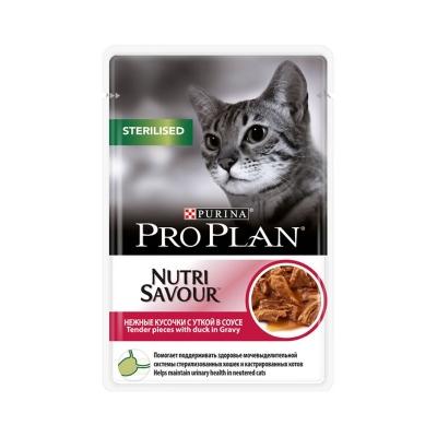 Purina Pro Plan Sterilised Nutri Savour с уткой (85 г)