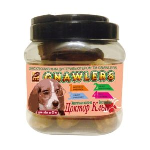 Gr. Qzin лакомство для собак Доктор Клык жевательная косточка вкус индейки