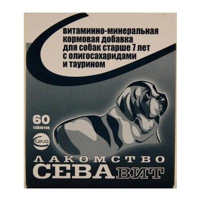 Севавит Лакомство для Собак Старше 7 лет (60 таб.)