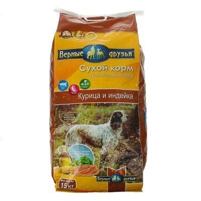 Сухой корм Верные друзья для собак старше 7 лет (15 кг)