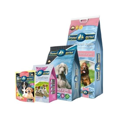 Верные друзья для щенков и молодых собак ягненок с рисом (1 кг)